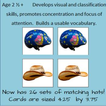 Hats - Montessori Classified Cards - Set 1