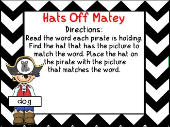 Hats Off Matey- a CVC match activity
