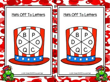 LOW PREP America Themed Identify and Write Letter Activities