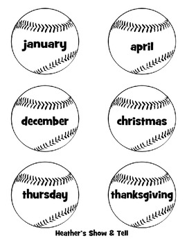 Hats Off to Capitalization! Capitalization Baseball Sorting Game