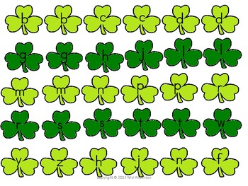 Hats & Shamrocks, A St. Patrick's Themed reading game