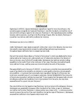 Hatshepsut Article Biography and Assignment