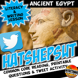 Hatshepsut Literacy, Writing and Fun Tweet Activity Set- Common Core!