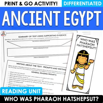 Close Reading Egypt:  Hatshepsut-Egypt's Female Pharaoh Brochure