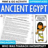 Informational Reading Ancient Egypt Hatshepsut Brochure