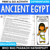 Reading Comprehension Passage and Questions | Ancient Egypt Hatshepsut