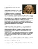 Hatshepsut: First Female Pharaoh Reading Analysis/Discussion