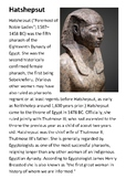 Hatshepsut Handout