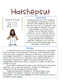 Hatshepsut Reading and Questions