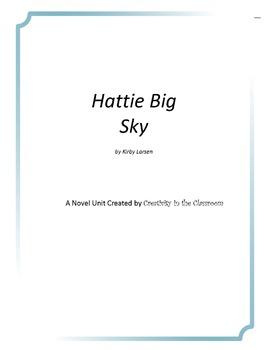 Hattie Big Sky Novel Unit Plus Grammar