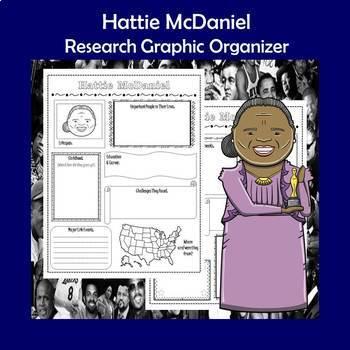 Hattie McDaniel Biography Research Graphic Organizer