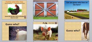 Hattie and the Fox Powerpoint/Farm Animals
