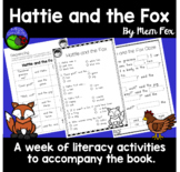 Hattie and the Fox by Mem Fox ~ A week of reading activities