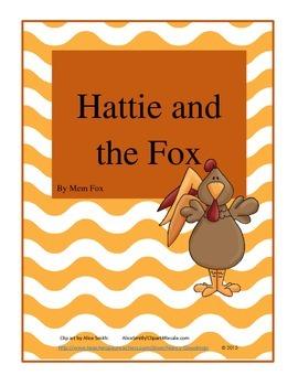 Hattie and the Fox by Mem Fox reading unit printables