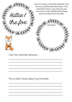Hattie & the fox printable template