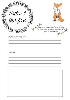 Hattie & the fox printable template