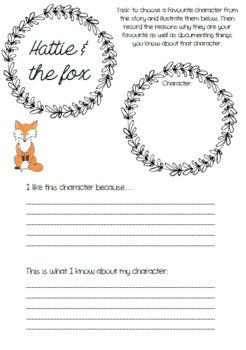 Hattie & the fox resource bundle