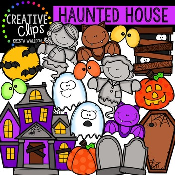 Haunted House {Creative Clips Digital Clipart}
