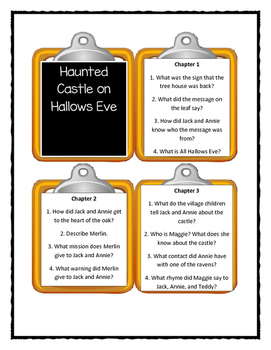Magic Tree House HAUNTED CASTLE ON HALLOWS EVE - Discussion Cards