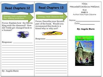 Haunted Castle on Hollows Eve -- Magic Tree House Reading Comprehension Trifold