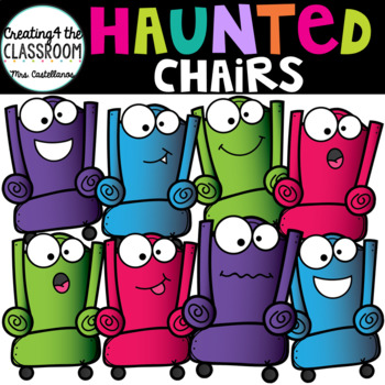 Haunted Chairs {Halloween Clip Art}