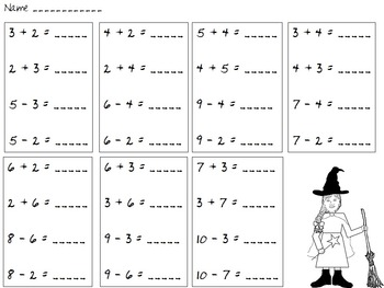 Haunted Fact Family House Center Activity and Worksheets - First Grade