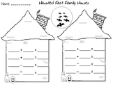Haunted Fact Family House Center Activity and Worksheets -
