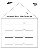 Haunted Fact Family House - Halloween Math Printable - K, 1, 2 Common Core Math