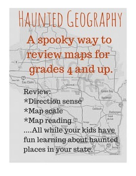 Haunted Geography- A haunting look at reviewing map skills