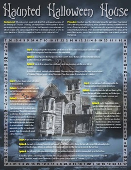 Haunted Halloween House Activity - A Probability Game