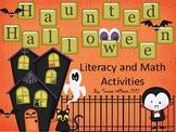 Haunted Halloween Literacy and Math Activities