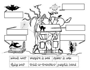 Haunted Halloween Phrases Cut 'n Paste