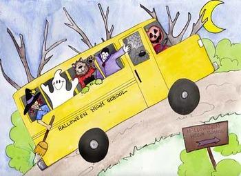 Haunted High school bus