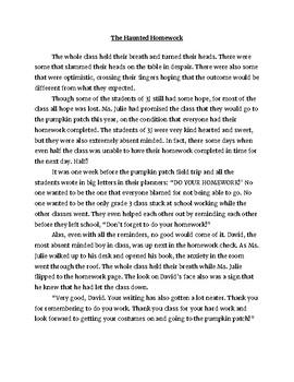 Haunted Homework Scary Story