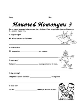Haunted Homonyms