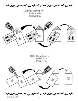 Haunted House Craft (Follow Written Directions to Assemble a 3D Haunted House)