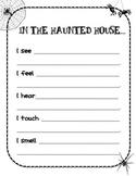 Haunted House 5 Senses Writing Activity