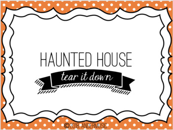 Haunted House - A Halloween Activity for the Music Room