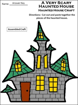 Halloween Reading Activities: A Very Scary Haunted House Activity Packet - Color
