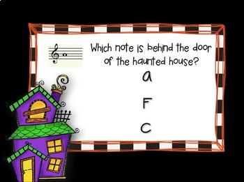 Haunted House {A game for practicing space notes on the treble clef staff}