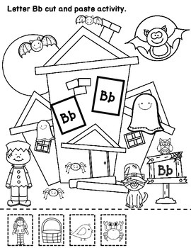 Haunted House Alphabet :  Initial Sound A-Z