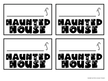 Haunted House Brown Bag Craft | Multiplication to 10 and 12