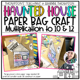 Halloween   Haunted House Brown Bag Craft   Multiplication to 10 and 12