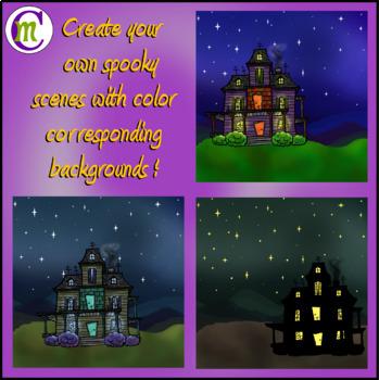 Haunted House Clip Art CM