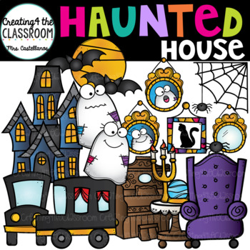 Haunted House Clipart {Halloween Clipart}