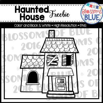 Haunted House Clipart Freebie