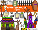 Haunted House Clipart {Scrappin Doodles Clipart}