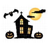 Haunted House Clipart   Spooky Halloween Graphics