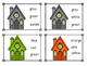 Haunted House Color Sight Word Clip Cards
