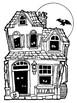 Haunted House Coloring and 5 sense Writing Activity